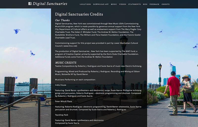 Digital Sanctuaries website by Chris O'Neal