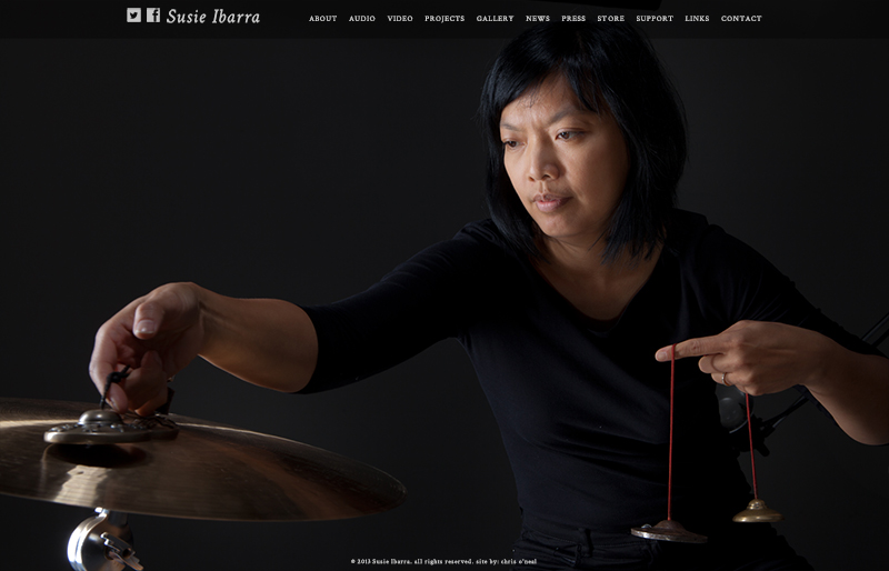 Susie Ibarra website by Chris O'Neal