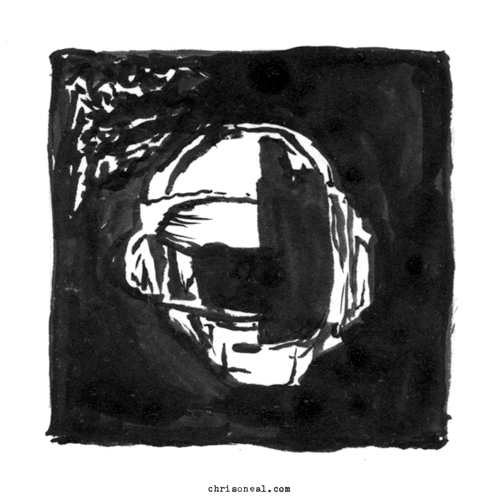 """Daft Punk - Random Access Memories"" drawing by Chris O'Neal"