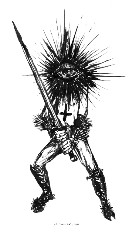 """Night Watcher"" drawing by Chris O'Neal"