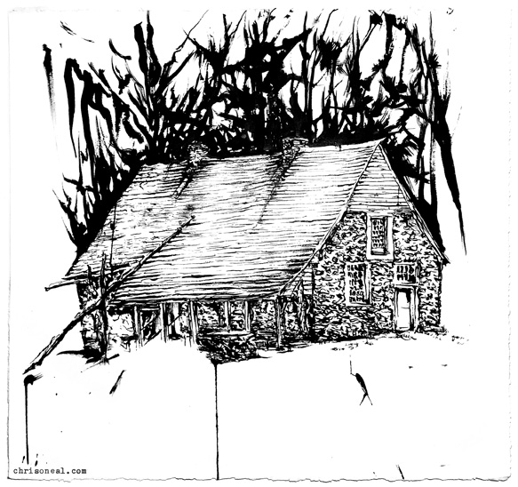"""Bevier House"" drawing by Chris O'Neal"