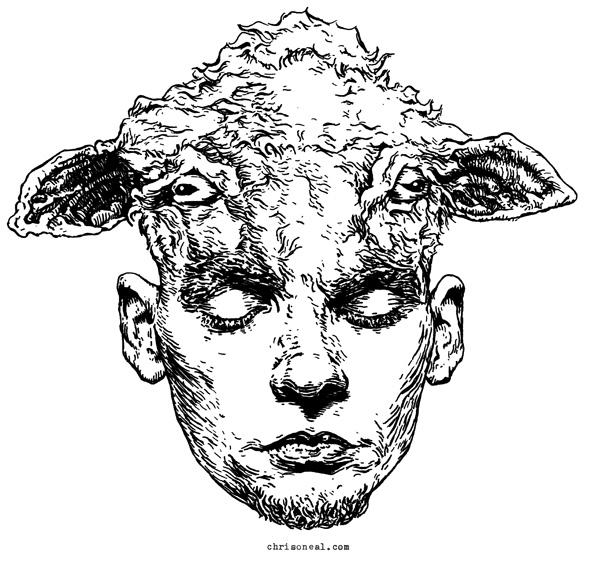 A. Kurtz sheeple Illustration by Chris O'Neal - artist, illustrator and designer