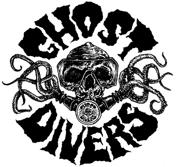 Ghost Divers logo design and illustration by Chris O'Neal