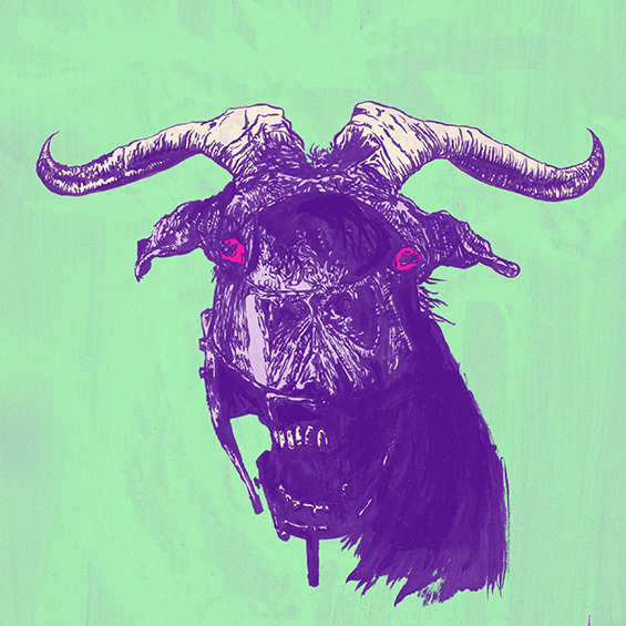 """technogoat"" illustration by Chris O'Neal"