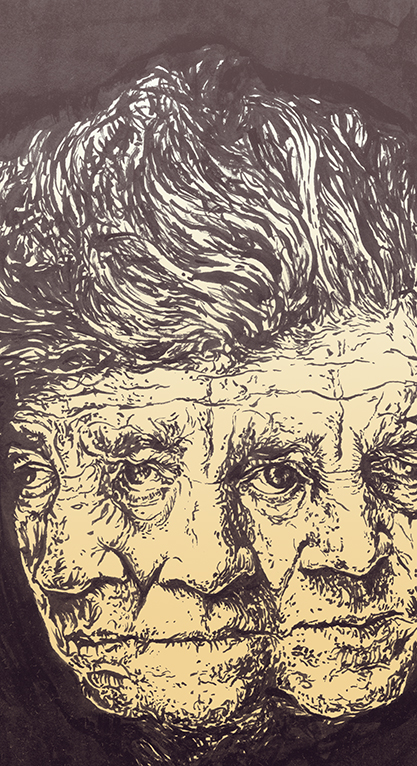 """david lynch"" illustration by Chris O'Neal"