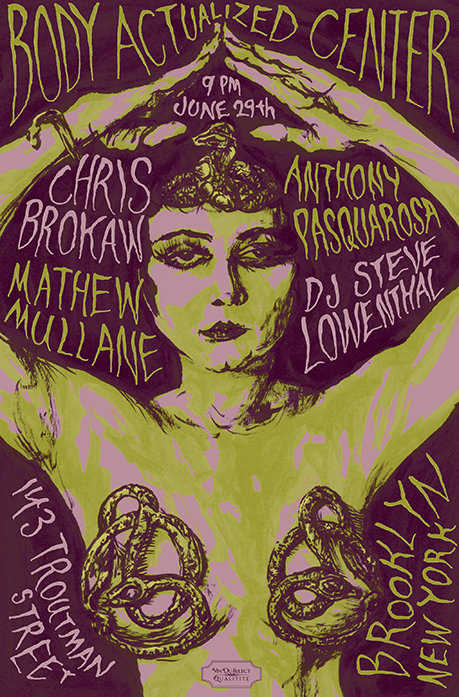 VDSQ Brooklyn show poster by Chris O'Neal