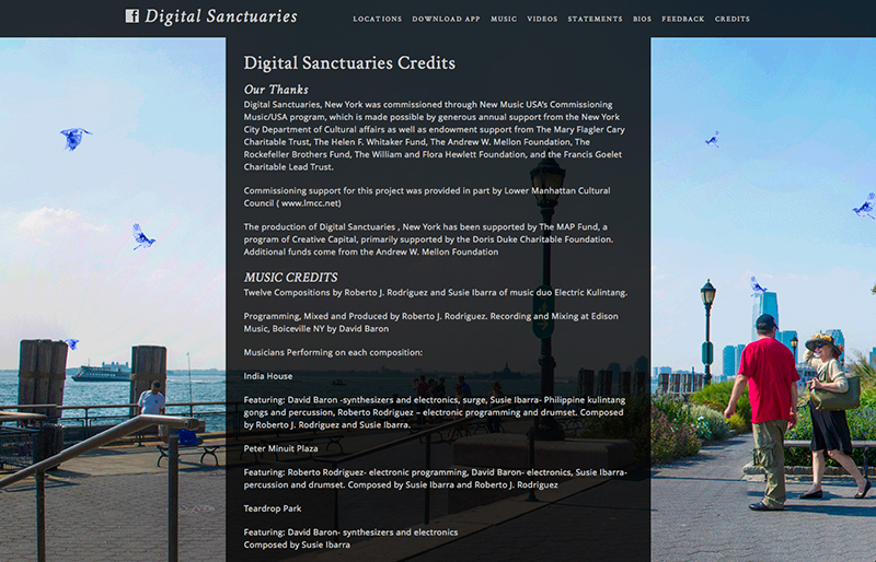 Digital Sanctuaries website by Chris O'Neal