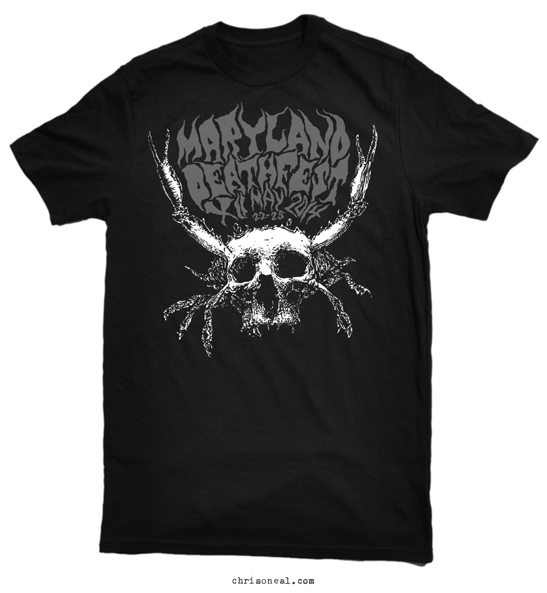 Maryland Deathfest 2014 crabskull shirt by Chris O'Neal