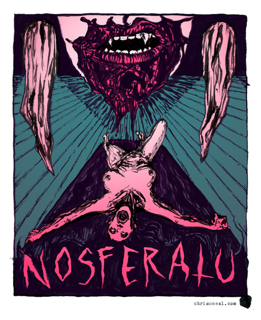 """nosferatu"" illustration by Chris O'Neal"