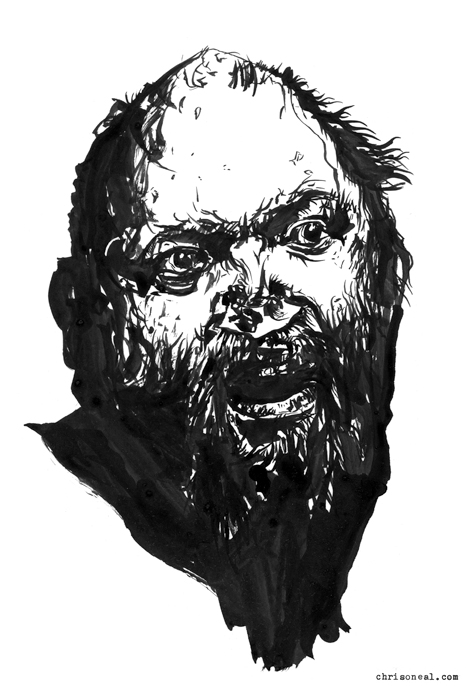 """Jason Stevens"" drawing by Chris O'Neal"