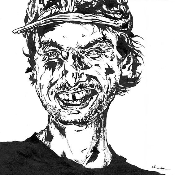 """Mac DeMarco"" drawing by Chris O'Neal"