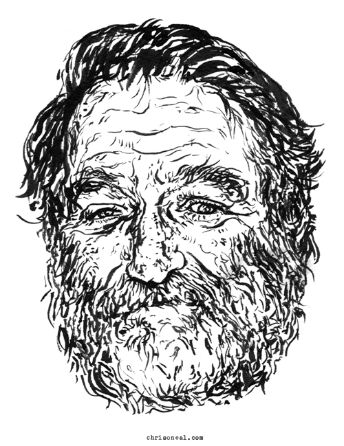 """Robin Williams"" illustration by Chris O'Neal"