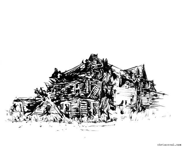 """The Cold Spring House"" drawing by Chris O'Neal"