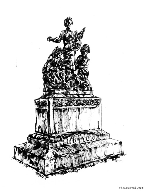 """Hutton Family Monument"" drawing by Chris O'Neal"