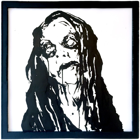 Fenriz drawing by Chris O'Neal
