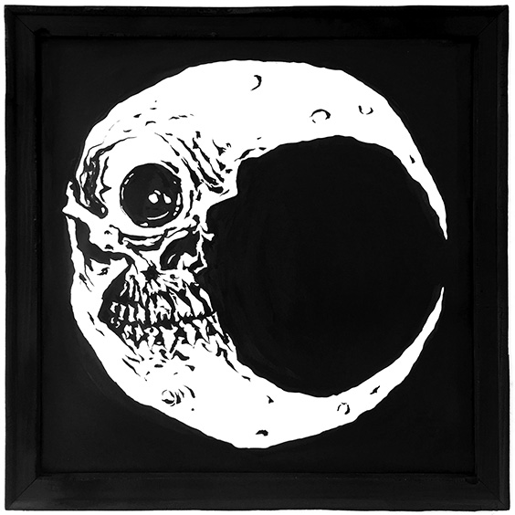 Moon drawing by Chris O'Neal