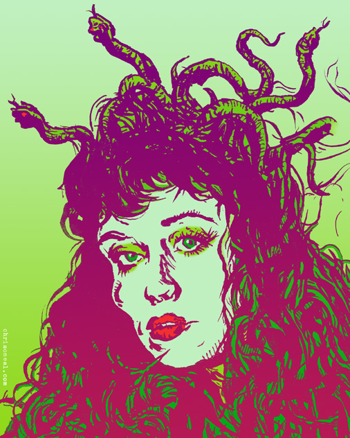Medusa Illustration by Chris O'Neal