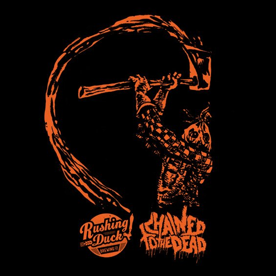 Chained to The Dead by Rushing Duck t-shirt design by Chris O'Neal