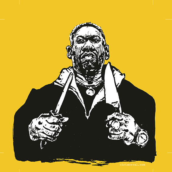 Raekwon The Chef Illustration by Chris O'Neal