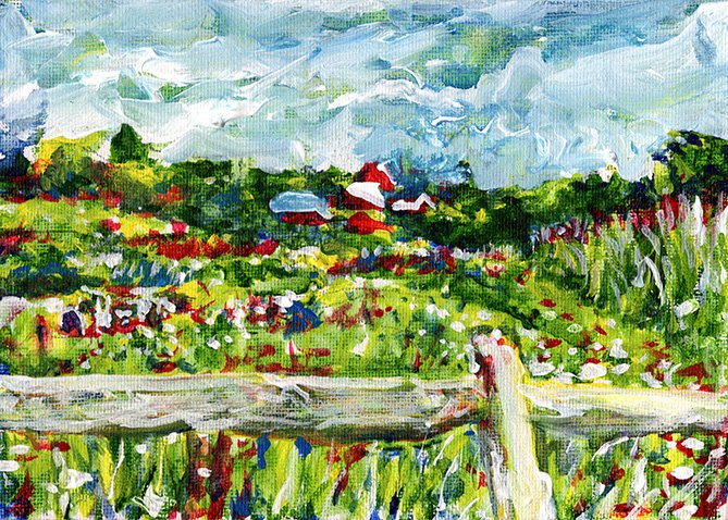 The field behind Kelder's Farm painting by Chris O'Neal