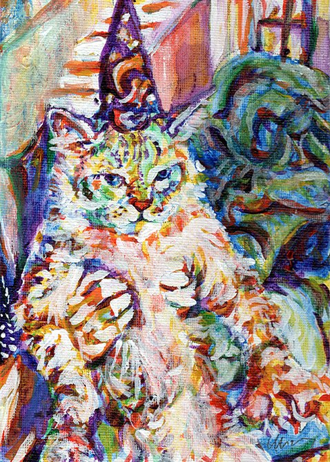 Magical Cat painting by Chris O'Neal