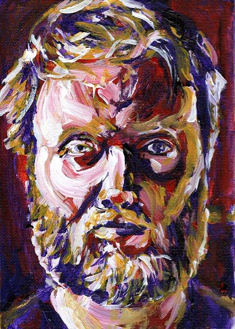Quarantine self portrait 4 painting by Chris O'Neal