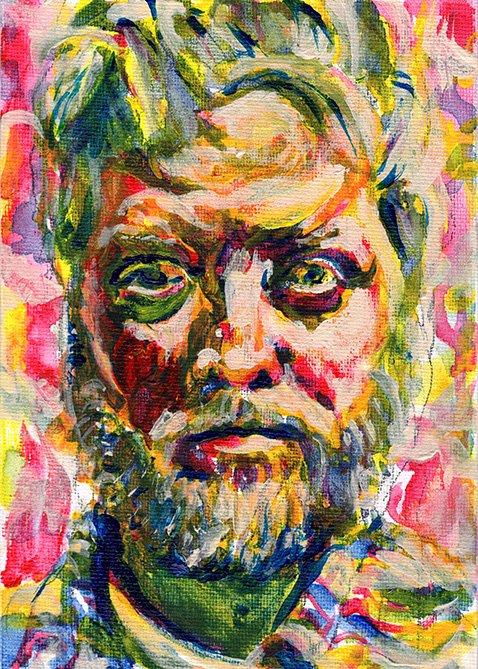 """Quarantine self portrait 5"" painting by Chris O'Neal"